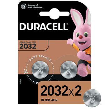 Элемент питания литиевый CR 2032-2BL (блист.2шт) (20/200/29400) Duracell Б0037273