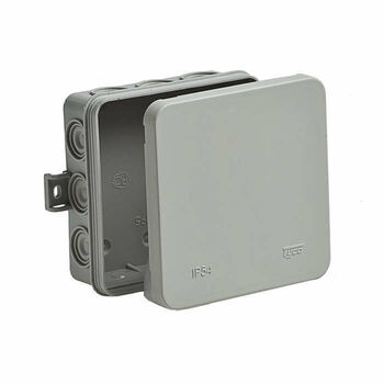 Коробка распределительная ОП 100х100х35мм 12 вводов IP54 сер. Ruvinil 67095