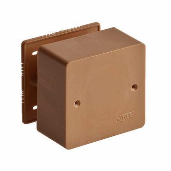 Коробка универсальная для кабель-каналов 85х85х45 корич. IP40 Ruvinil 65015К