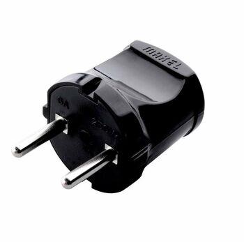Вилка электрическая без заземл. черн. Makel 10051