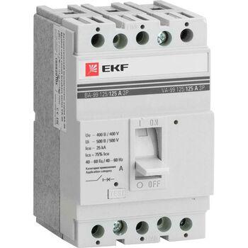 Выключатель автоматический 3п 125/80А 25кА ВА-99 PROxima EKF mccb99-125-80