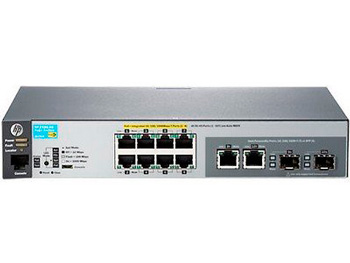 "HP J9774A#ABB 2530-8G-PoE+ Коммутатор (8 x 10/100/1000 + 2 x SFP or 10/100/1000, Managed, L2, virtual stacking, PoE+ 67W, 19"") (repl. for J9298A)"