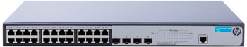 HP JG925A#ABB 1920-24G-PoE+ (180W) Коммутатор (24x10/100/1000 PoE+ RJ-45 + 4xSFP, Web-managed, static routing, 19