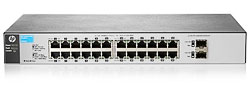 HP J9803A#ABB 1810-24G Коммутатор (24 ports 10/100/1000 + 2 SFP, WEB-managed, fanless, 19