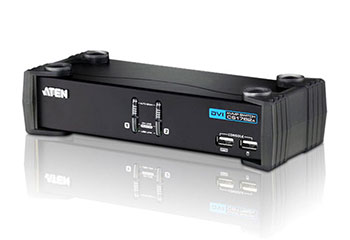 ATEN CS1762A-AT-G Переключатель, электрон., KVM+Audio+USB 2.0, 1 user USB+DVI, 2 cpu USB+DVI, со шнурами USB 2х1.8м., 1920x1200 60Hz, настол., исп.стандарт.шнуры, без OSD, некаскад., (WIN98SE/ME/2000/XP/2003/Vista/MAC/Linux/SUN/FreeBSD, USB Hub 2 пор