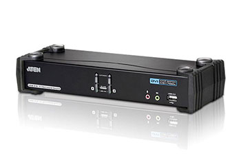 ATEN CS1782A-AT-G Переключатель, электрон., KVM+Audio+USB 2.0, 1 user USB+DVI, 2 cpu USB+DVI, со шнурами USB 2х1.8м., 2560x1600 60Hz DVI-D Dual Link/2048x1536 DVI-A, настол., исп.стандарт.шнуры, без OSD, некаскад., (WIN2000/XP/Vista/MAC/Linux/SUN)