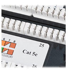 Патч-панель 19 (2U), 48 портов RJ-45, категория 5e, Dual IDC, с задним кабельным организатором.<br />Заделка Dual IDC (Krone и 110 тип).