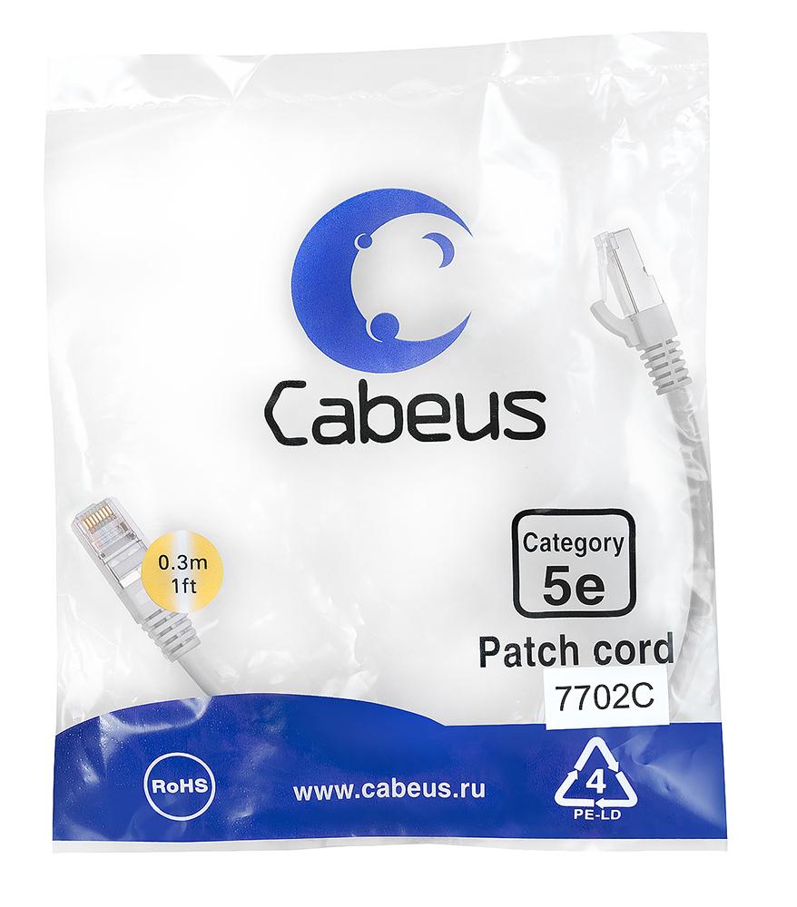 Нажмите на фото для увеличения. Cabeus PC-FTP-RJ45-Cat.5e-0.3m Патч-корд F