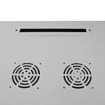 Mонтажный шкаф Cabeus<br />Ввод кабеля осуществляется сверху и снизу, через кабельные вводы, демонтируя заглушки.<br>Активная (принудительная) вентиляция заказывается дополнительно.