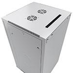 Mонтажный шкаф Cabeus<br>Ввод кабеля осуществляется сверху и снизу, через кабельные вводы, демонтируя заглушки.<br>Активная (принудительная) вентиляция заказывается дополнительно.