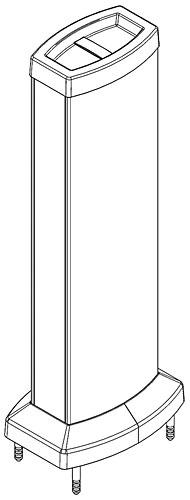 Minicolumna de doble cara de 18 + 18 módulos (9 + 9 salidas 45x45 mm).