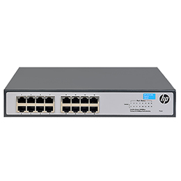 "HP JH016A#ABB 1420-16G Коммутатор (16 ports 10/100/1000, unmanaged, fanless, 19"")(repl. for J9560A)"