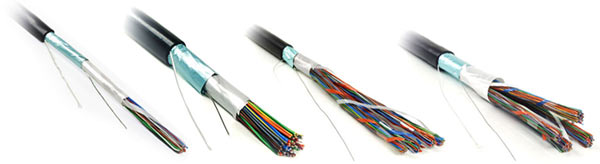 Shielded Twisted Pair Cable FTP, category 3, 10/25/50/100 pairs, solid, outdoor
