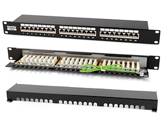 "Hyperline PP2-19-24-8P8C-C6-SH-110D Патч-панель 19"", 1U, 24 порта RJ-45 полн. экран., категория 6, Dual IDC"