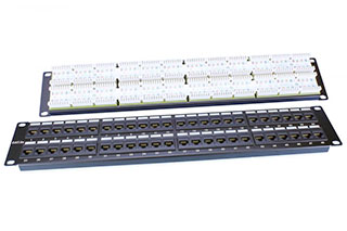 "Hyperline PP3-19-48-8P8C-C5E-110D Патч-панель 19"", 2U, 48 портов RJ-45, категория 5e, Dual IDC, ROHS, цвет черный"