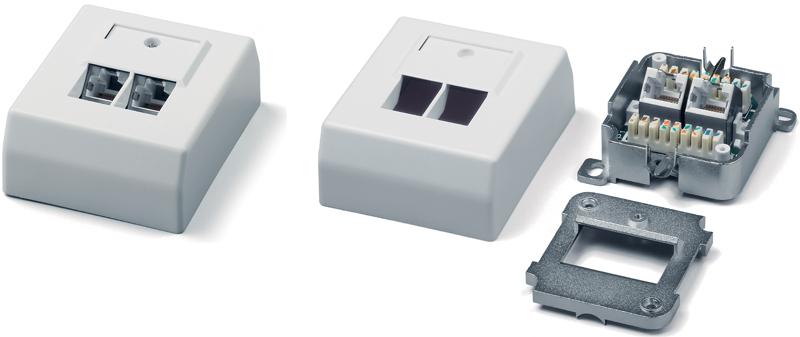 Розетки rj-45 для установки в короб