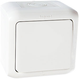 LEGRAND 782300 ����������� 1-���������, 10�, �����, IP44, Quteo