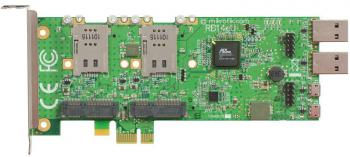 MikroTik RB14eU Плата расширения RouterBOARD 14eU Four slot miniPCIe-PCIe adapter wih USB