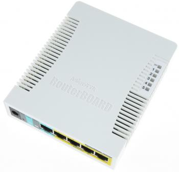 MikroTik RB260GSP Коммутатор RouterBOARD 260GSP 1xSFP, 5x10/100/1000 Gigabit Ethernet, PoE with indoor case and power supply