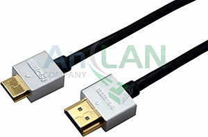 REXANT 17-6715 Шнур HDMI - mini HDMI gold 3М Ultra Slim (блистер)